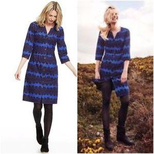 Boden sz8R Maisie corduroy blue & black dress